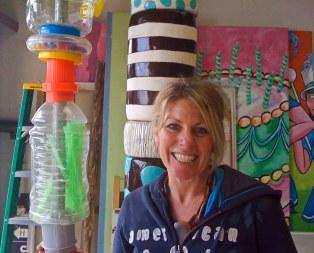 Sally in her studio