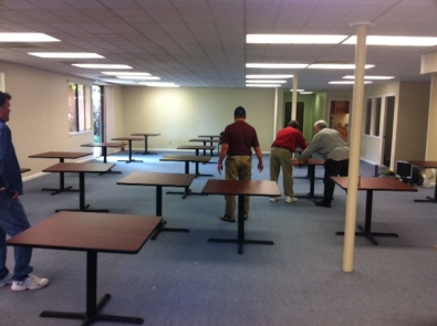Assembly and placement of tables