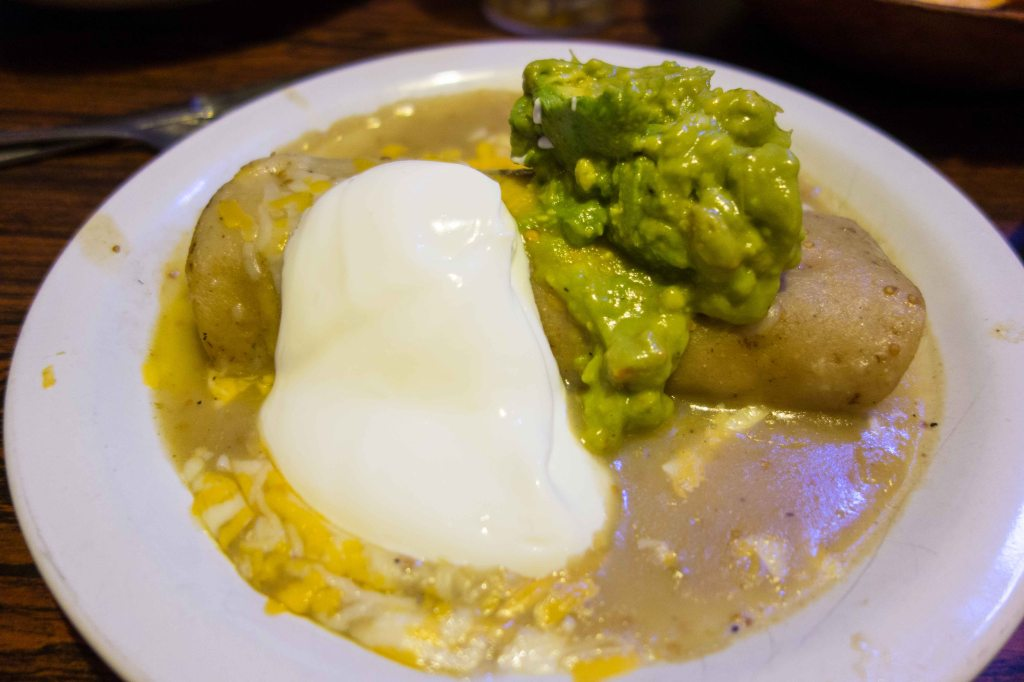 Pork Enchilada with green sauce