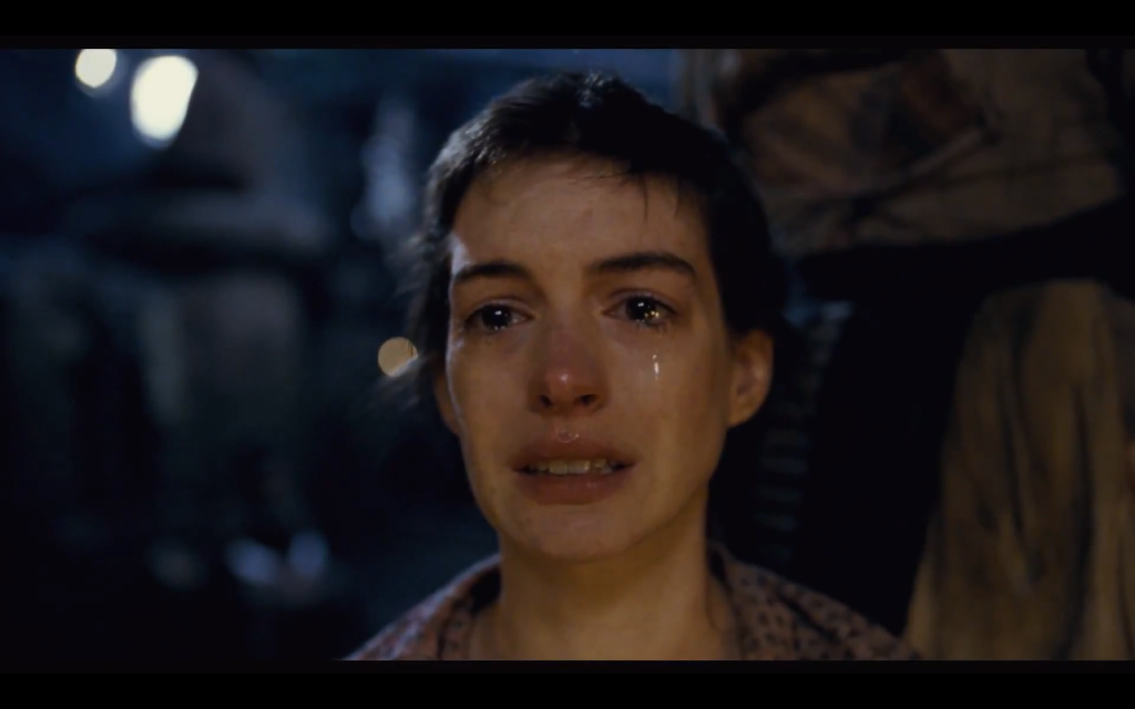 Anne Hathaway steals the movie as Fantine