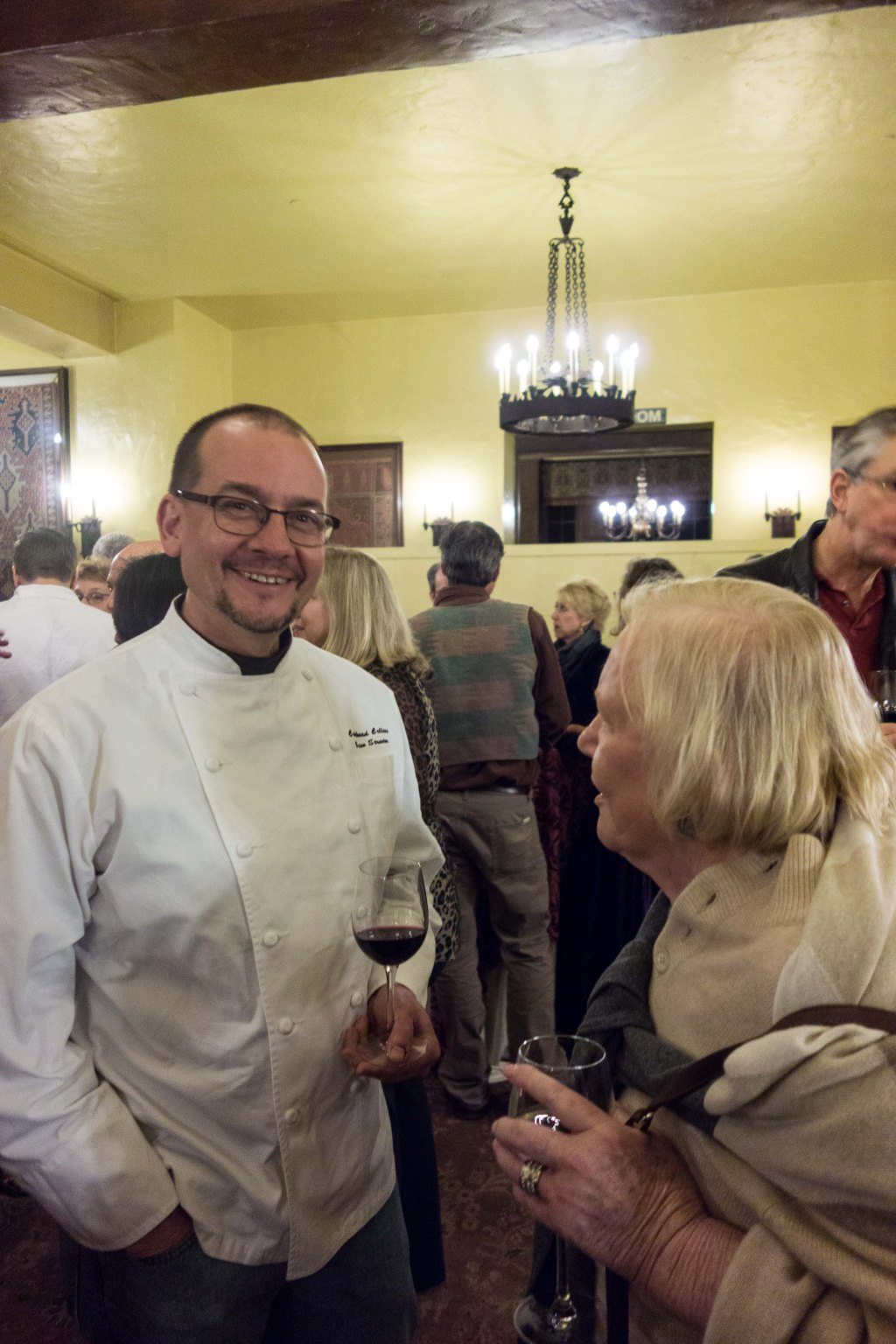 Gail with Chef Brian Streeter, from Cakebread Cellars.