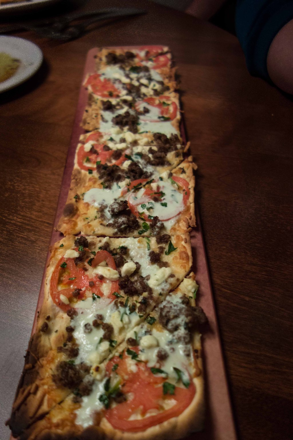 A re-imagining of the gyro, served on flatbread
