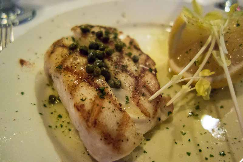 Black grouper, lemon, butter and capers.