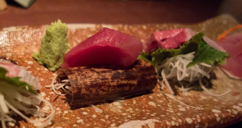 Maguro, albacore tuna sashimi.