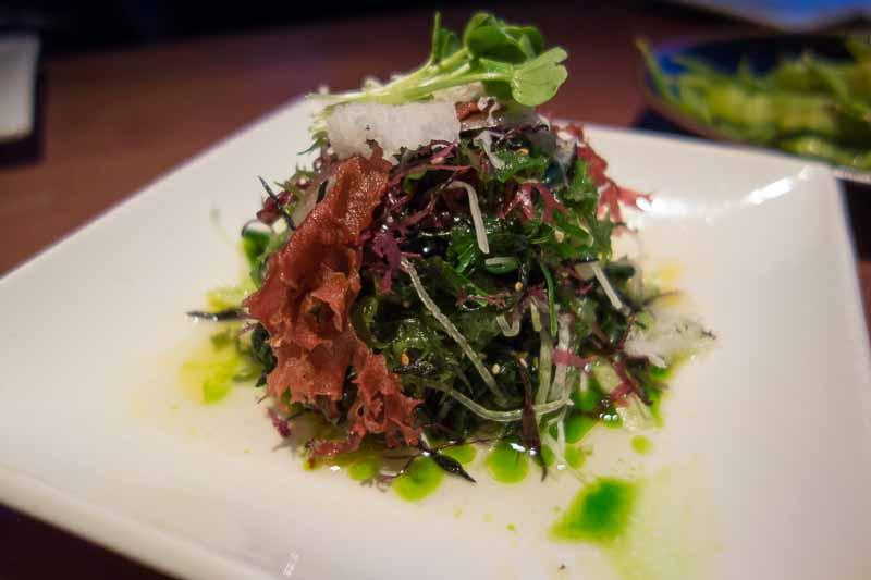 Seaweed, cucumber and avocado