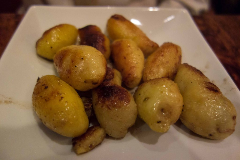 Roast fingerling potatoes