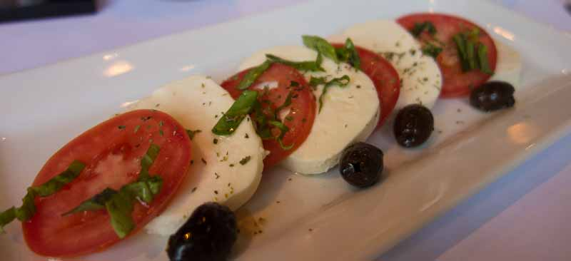 Fresh mozzarella, tomatoes and basil