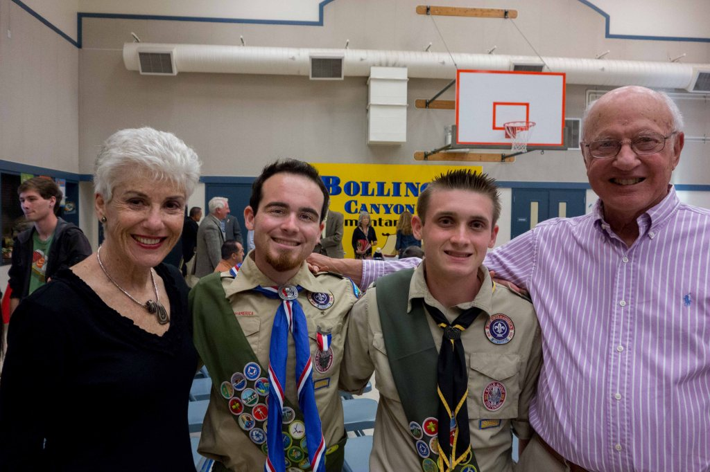 Linda, Aaron, Alec and Mike--one very proud family