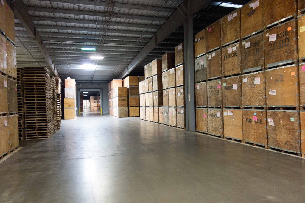 Rows and rows and rows of boxes.