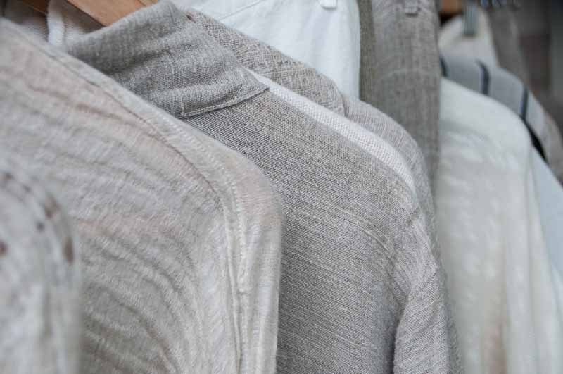 A rack of linen shirts