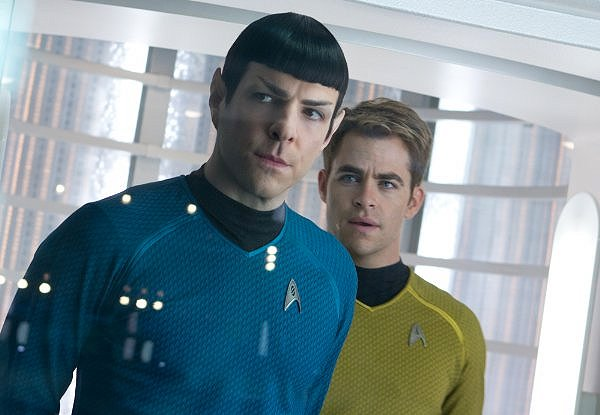 Zachary Quinto and Chris Pine star in the latest episode of the Star Trek saga