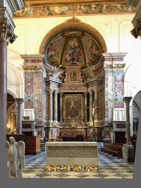 The main altar of the cathedral.