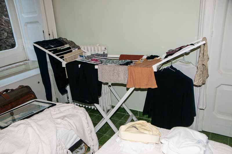 A modern indoor clothes drying rack