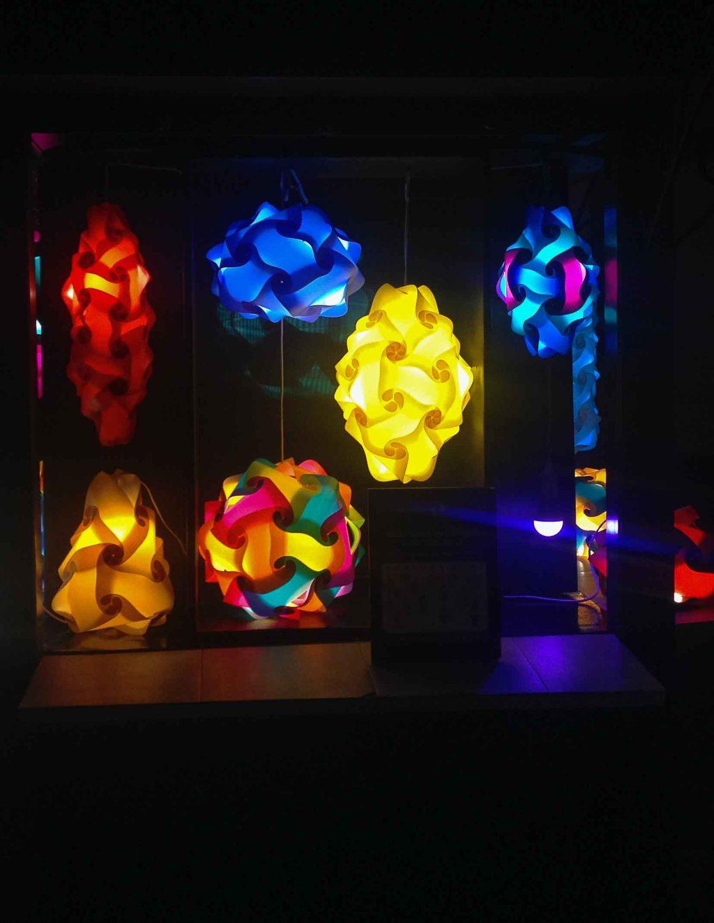Snap-together lights.