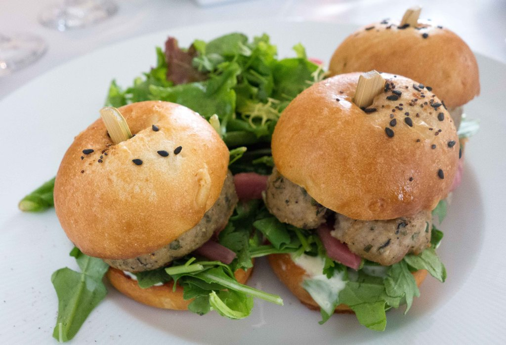 Chicken meatball sliders.