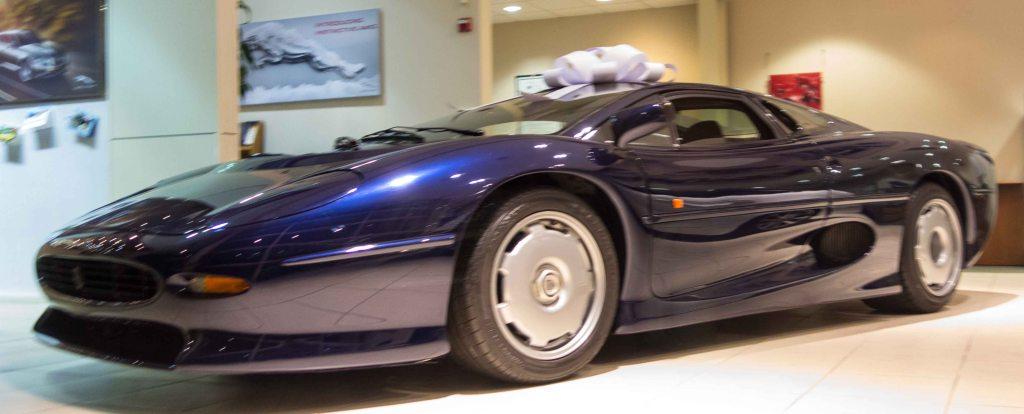 A 1992 Jaguar XJ220 in pristine condition