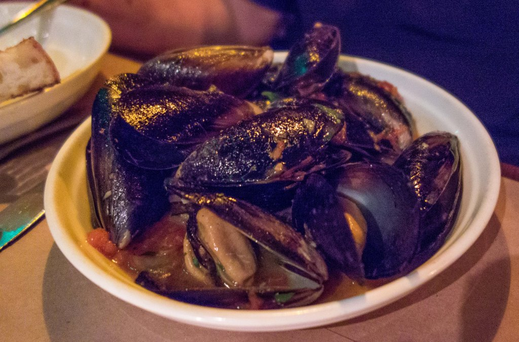An excellent plate of mussels was presented