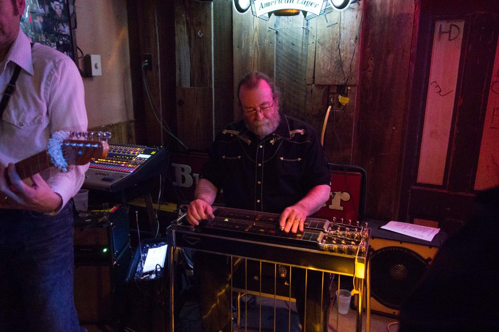 Jim Hussey at the pedal steel guitar