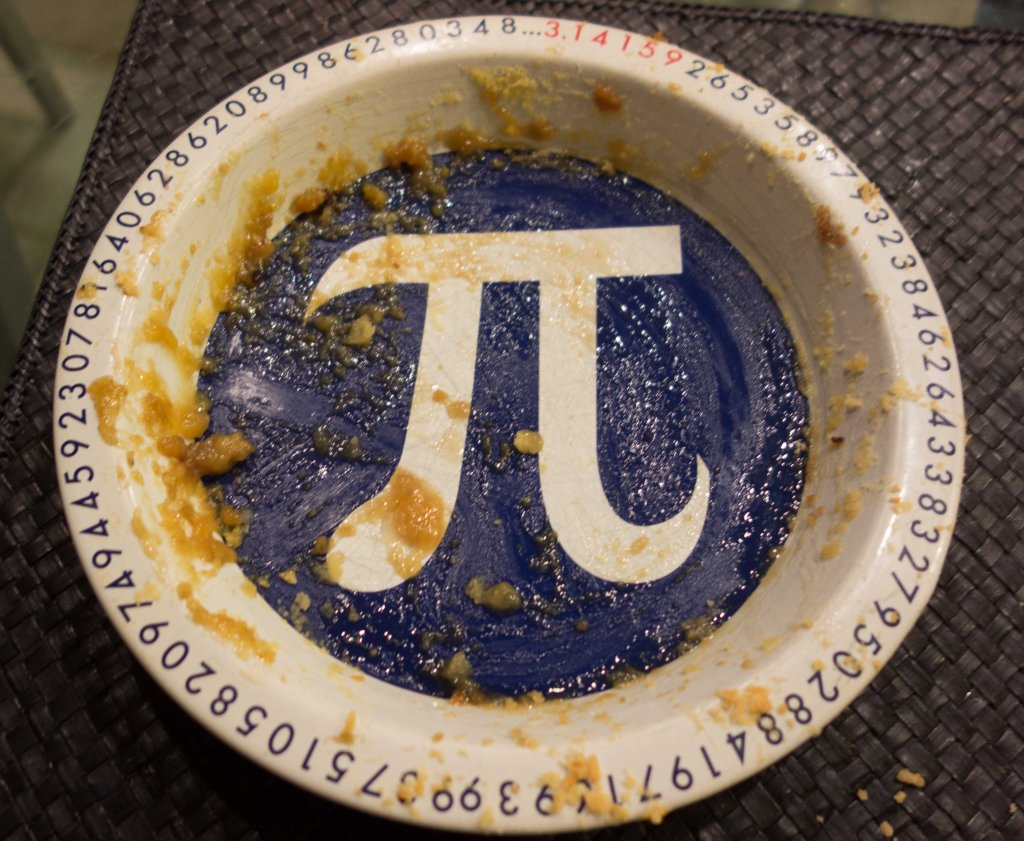 Nancy's personal Pi plate
