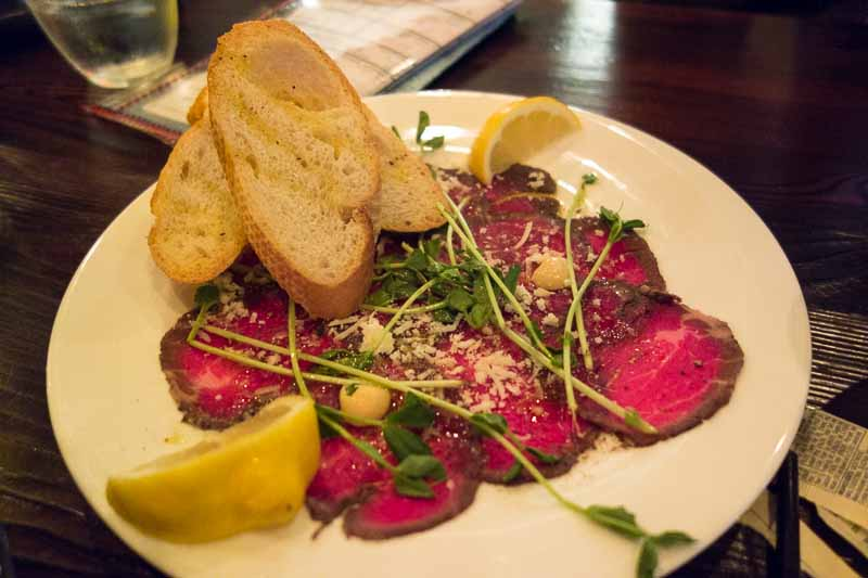 Paper thin raw beef--it pays to know the chef.