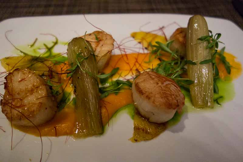 The scallop dinner
