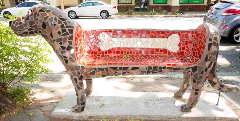 One of the sidewalk benches you will ever see