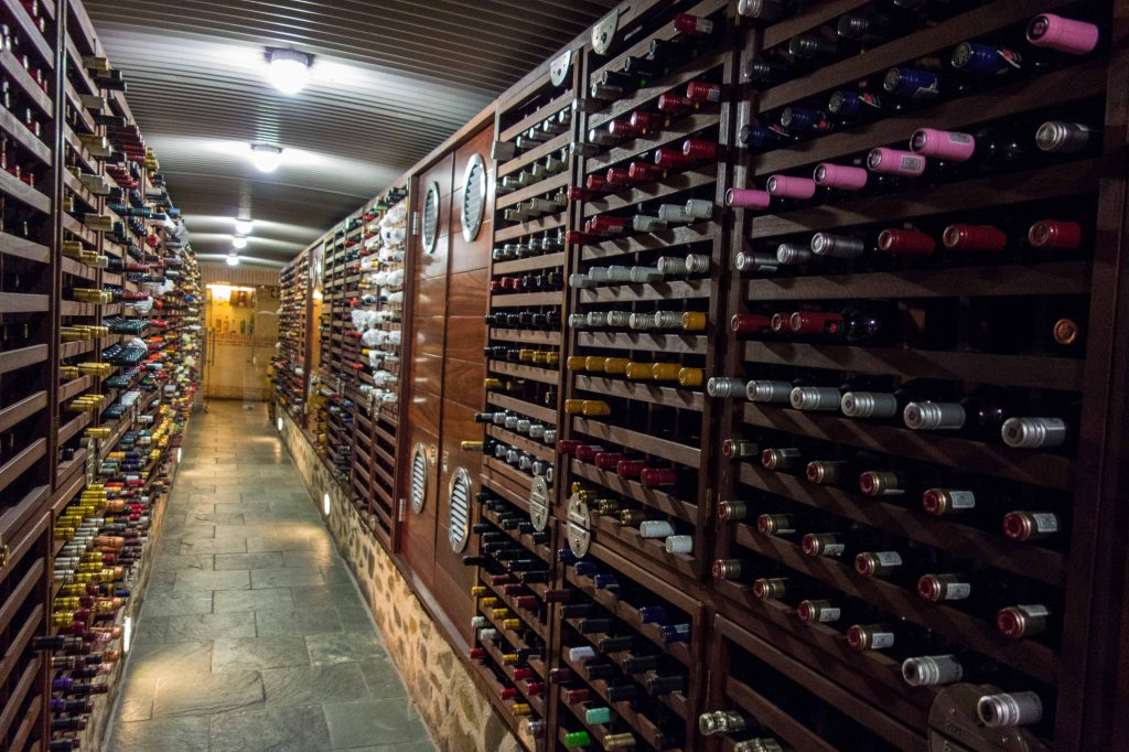 Just one side of the wine cellar, and there is another room, as well.