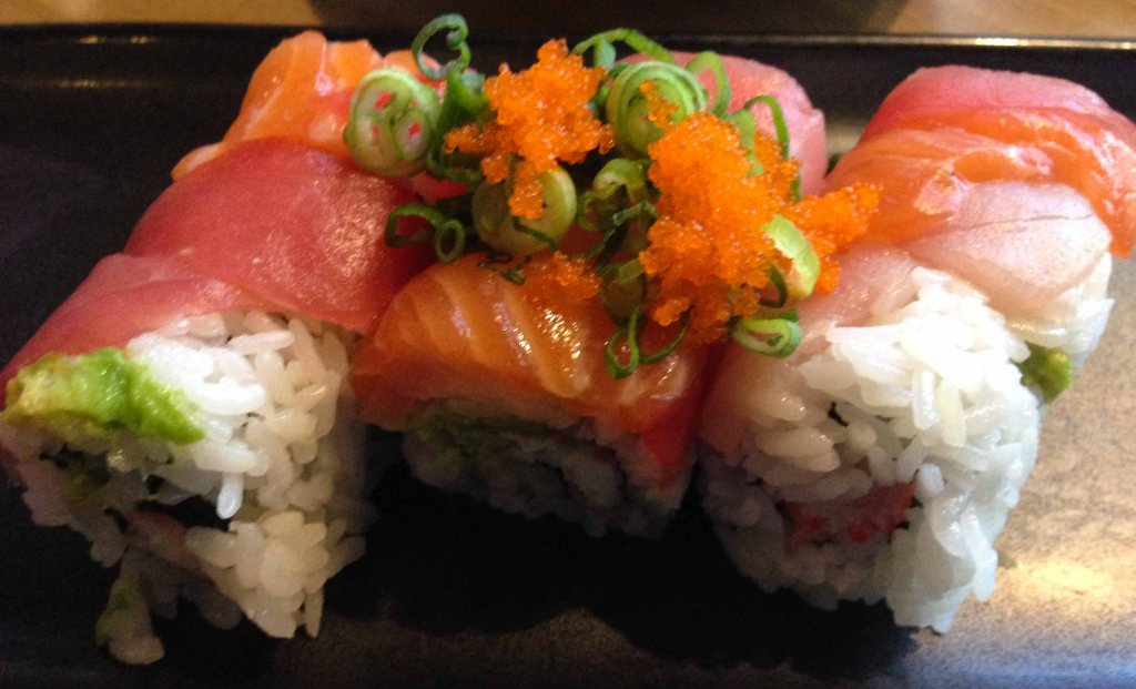 This is a rainbow roll.