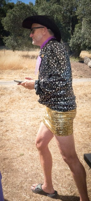 Some guys can just rock a glittery miniskirt.
