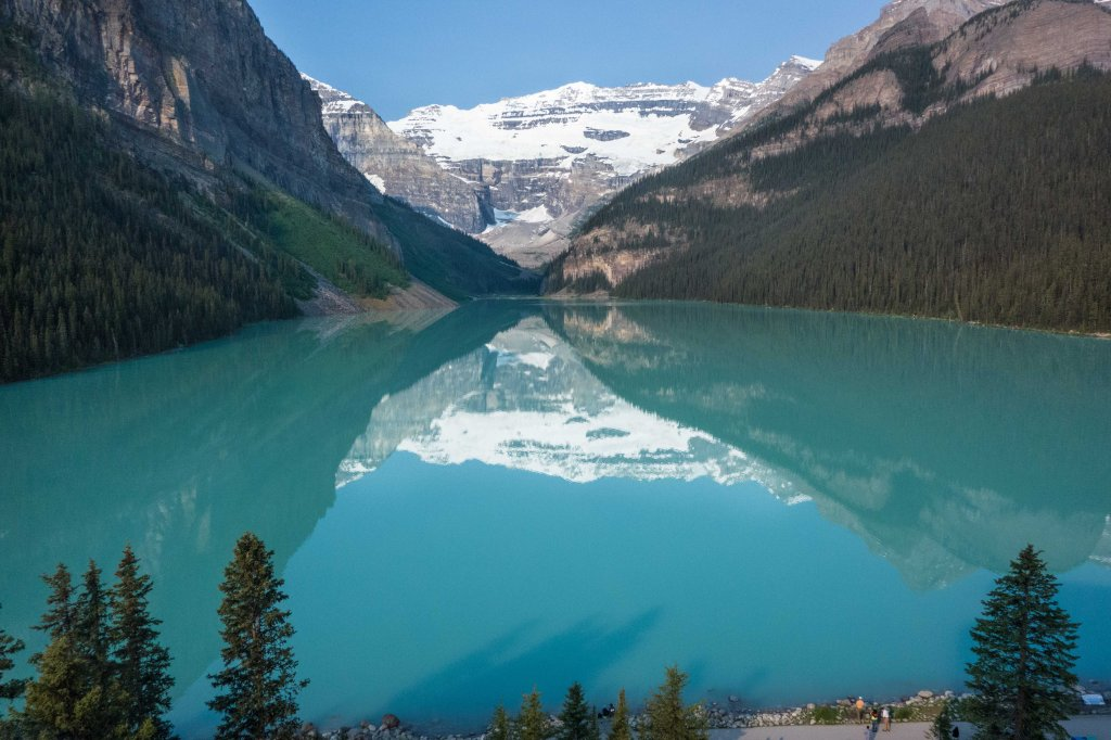 Lake Louise in the morning.