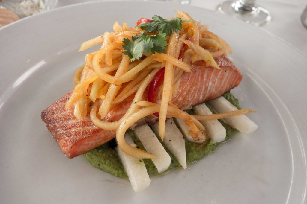 A most inventive salmon dish.
