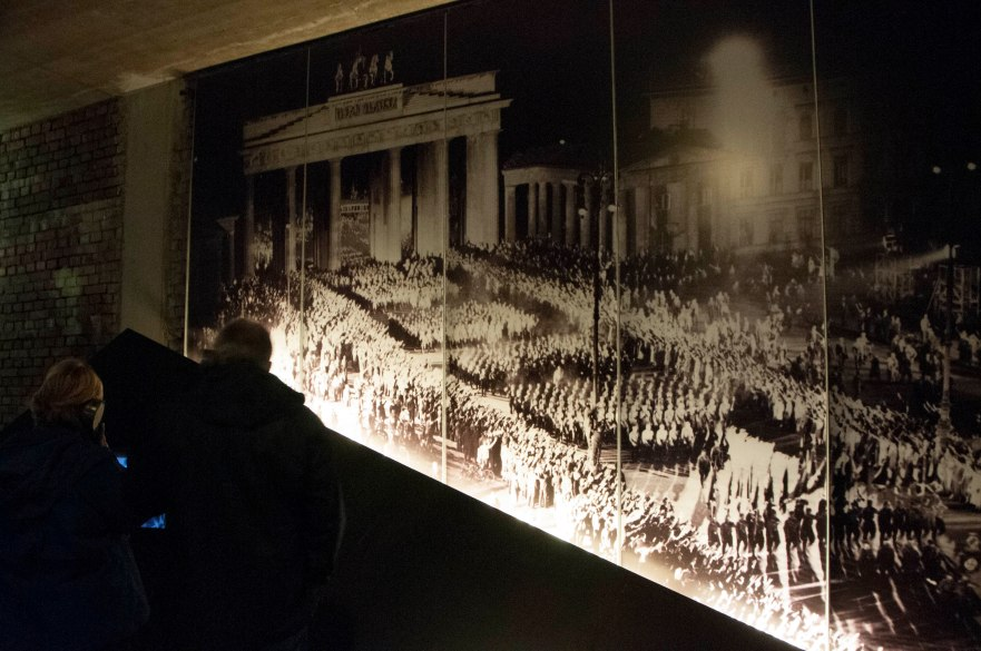 Photograph supposedly of a major rally in Berlin in January, 1933.  Then somenone noticed that nobody is wearing a coat--the photograph is a staged recreation for propaganda purposes.