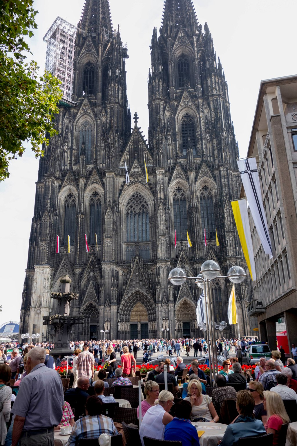 Cologne cathedral.  They are slowly starting to clean and repair it after centuries of neglect and a couple of world wars.