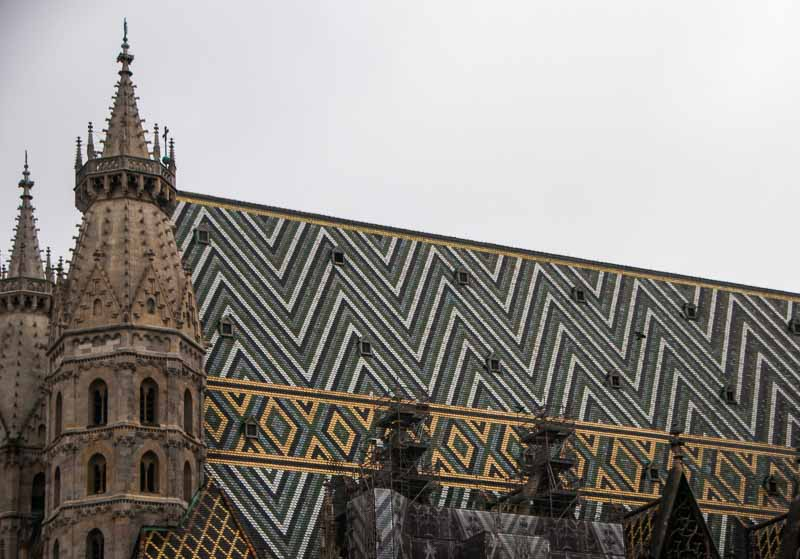 I liked the patterns on the roof.