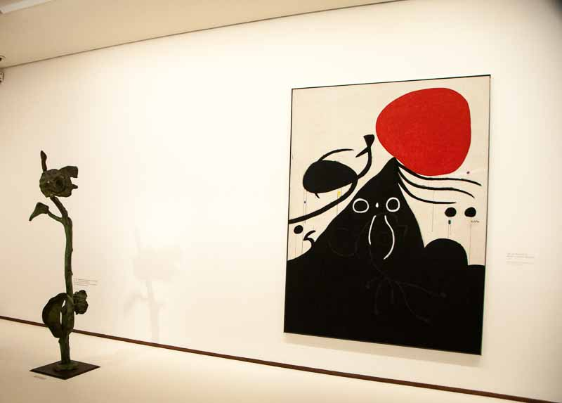 Miro painting and sculpture.