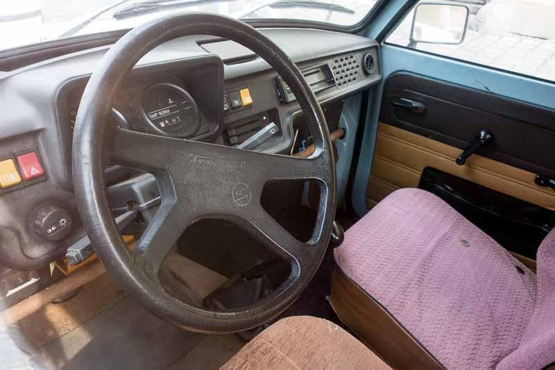 Not a plush interior