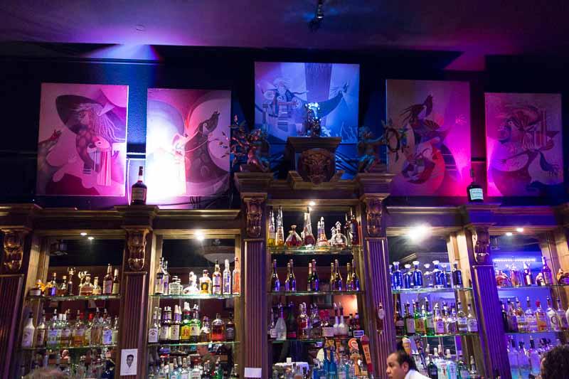 The bar at Cafe Anton