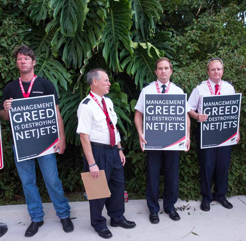 A pretty high class of union pickets.