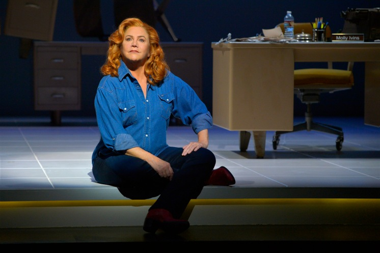 Kathleen Turner stars as Molly Ivins in Red Hot Patriot at Berkeley Rep.  Photo by Berkeley Rep.