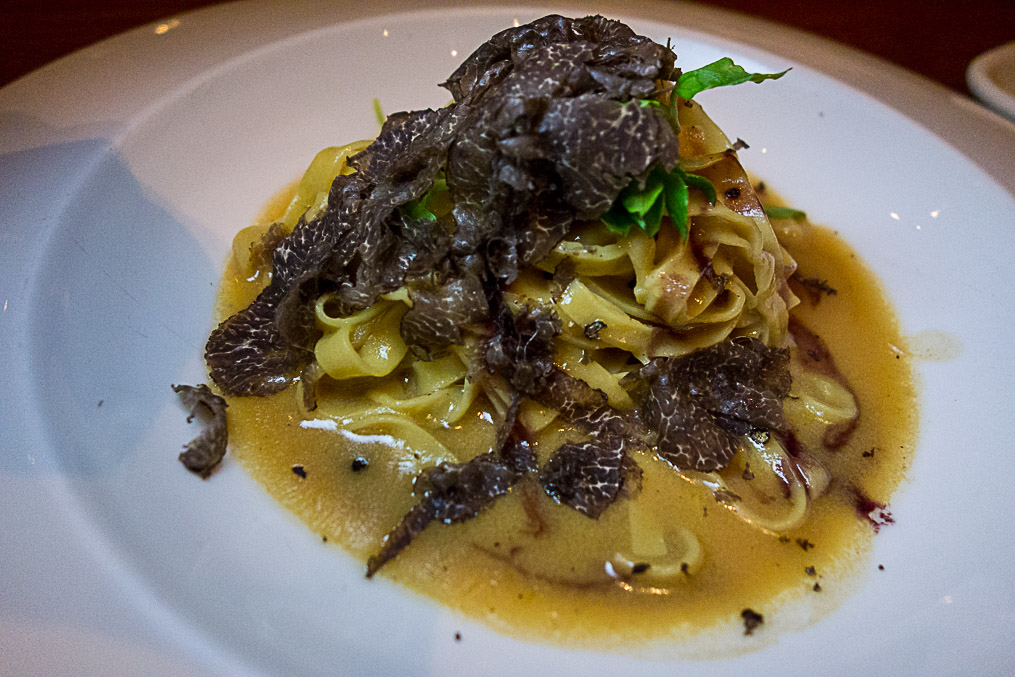 Tagliatelle with shaved truffles