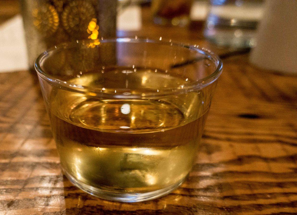 The unique wine glasses.