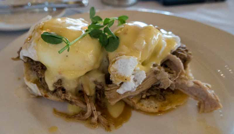 Eggs Benedict New Orleans style.