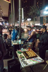 Guys hustling chess on the street