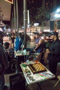 Guys hustling chess on the street