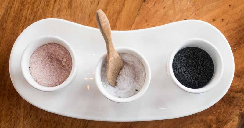 Three kinds of salt to perfect your meal.