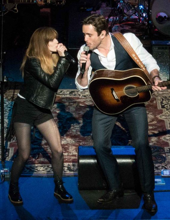 Aubrey Peeples and Chip Esten