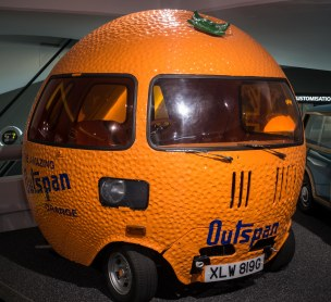 They widened the wheel base to create these orangemobiles