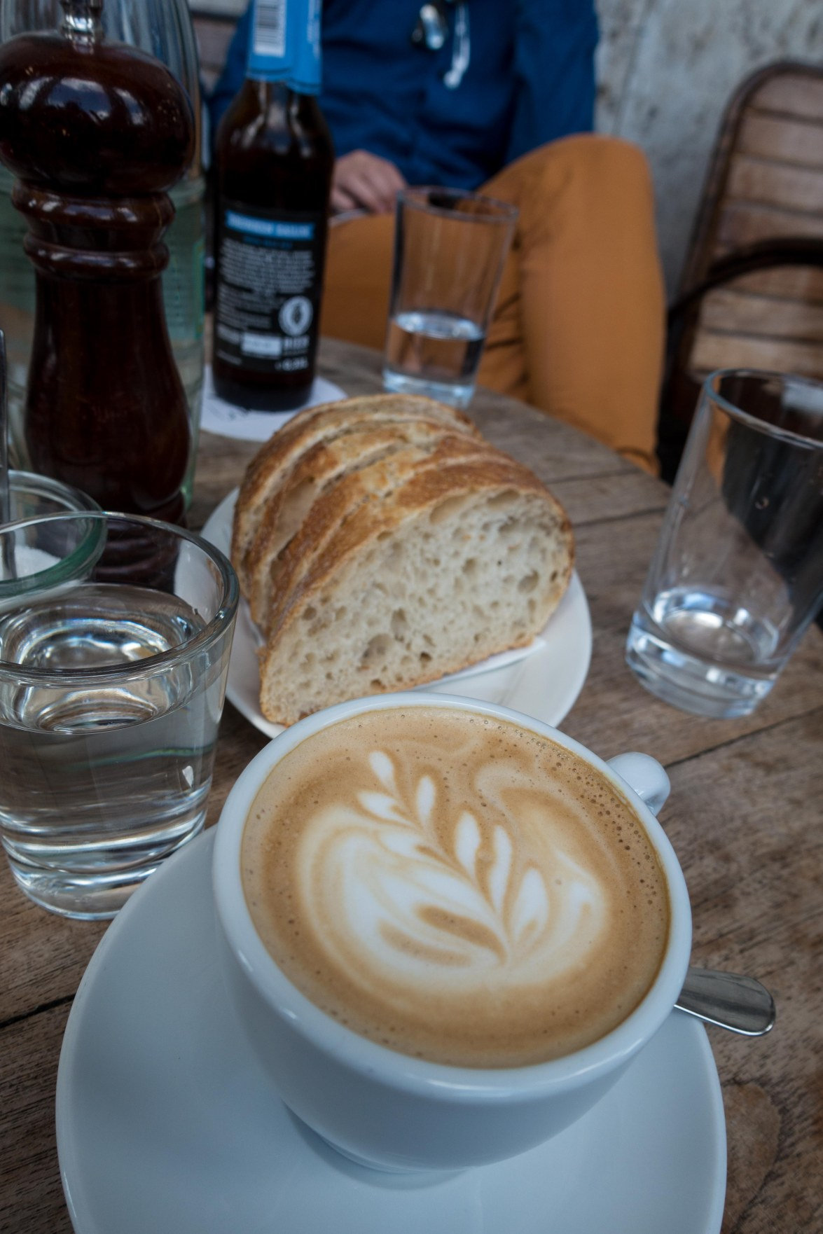 Even the coffee and bread are works of art in the museum cafe