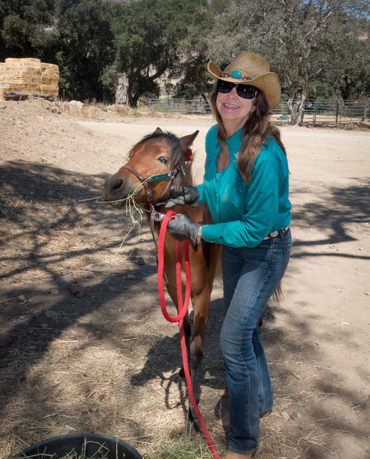 Leslie and Sonny Boy, a long legged pony