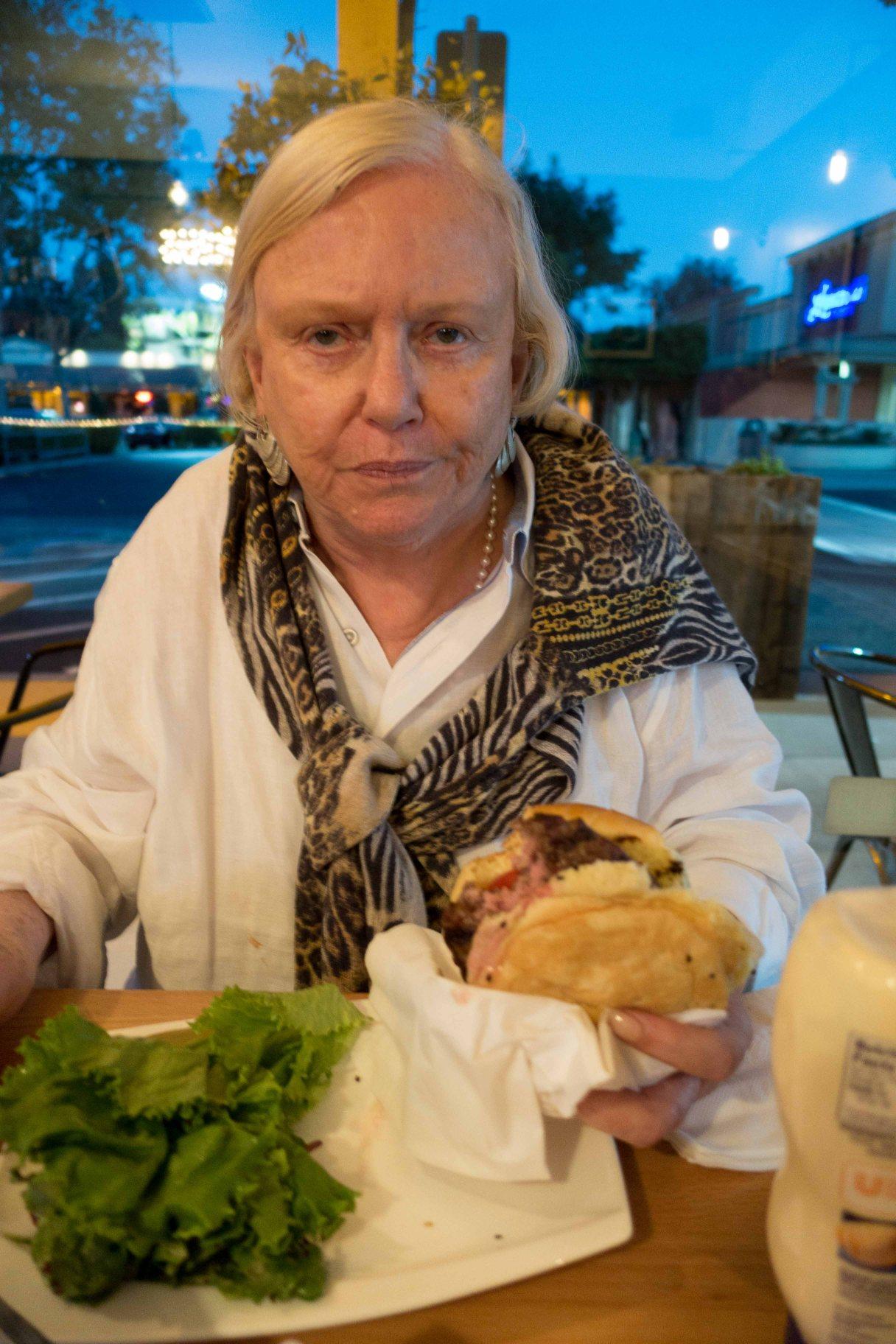 Gail not eating Aji de Gallina
